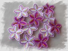Frangipani Felties / Sliders for Felt and Glitter Vinyl - Machine Embroidery Design for sale at https://www.southerncrossembroidery.com/market/frangipani-felties-sliders-for-felt-and-glitter-vinyl/