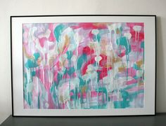 Large abstract expressionism original abstract by AbstractbyMira, $36.00
