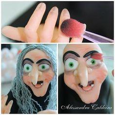 Ateliê Alessandra Caldeira Modelagem em Biscuit: PAP - Vamos fazer uma linda Bruxa?