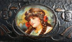 Art Nouveau Rowntree's Chocolate tin with pretty by Tinternet