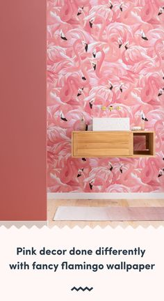 Flamingos are a big trend in interiors, and this painterly style flamingo pattern wallpaper will be sure to impress. Flamingo Wallpaper, Pink Wallpaper, Pattern Wallpaper, Pink Flamingos Birds, Flamingo Bird, Flamingo Pattern, Sherwin William Paint, Pink Home Decor, Inspirational Wallpapers