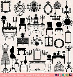 BUY 1 GET 1 FREE (of equal or lesser value) Decorative ClipArt Embellishment Design Elements Clip Art Small Business Commercial Personal Use.