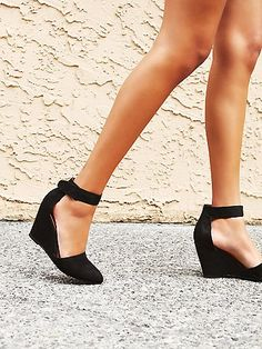 0515c53634f3 Peaks Point Wedge. Black Wedges OutfitWedge Shoes OutfitsSummer ...