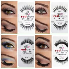 37 Super Ideas For Hair Red Cherry Lashes Makeup Tips, Eye Makeup, Makeup Products, Makeup Ideas, Hair Makeup, Best Drugstore Lashes, Red Cherry Eyelashes, Lash Up, Purple Tips