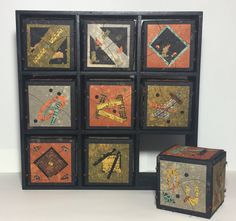 Quilted boxes with stories inside Barbara Bussolari