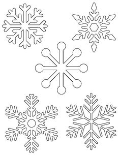 Free printable snowflake templates                                                                                                                                                                                 More