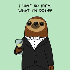 Mr. Sloth describing my feels while studying for Anatomy and Physiology...