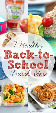 7 Healthy Back-to-School Lunch Ideas - via @blissfullyd