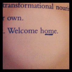 Home is where the 'om' is.