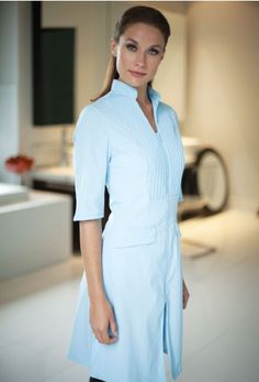 Moderna - Inspired by our Dolce uniform. A dress like jacket with elegant pin tuck pleat details.