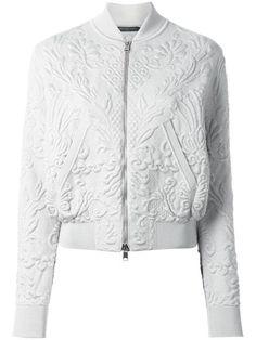 ALEXANDER MCQUEEN Textured Jacquard Bomber Jacket. #alexandermcqueen #cloth #jacket