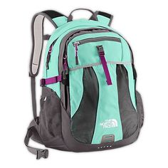 The North Face backpack. Love this back pack & this color!