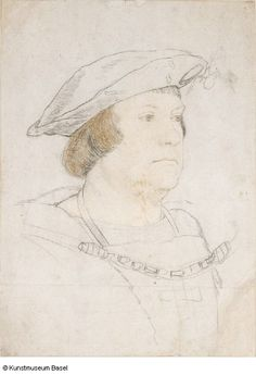Hans Holbein der Jüngere, Bildnis eines vornehmen Engländers (ca. Renaissance Fashion, Renaissance Art, Basel, Hans Holbein The Younger, Portrait Sketches, Religious Art, Public Art, Book Design, Painting & Drawing