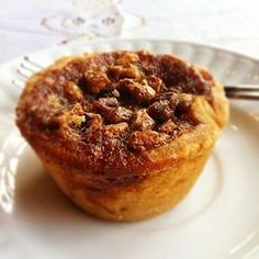 Butter Tart - a type of small pastry tart from Canada consisting of  butter, sugar, syrup, and egg filled into a flaky pastry and baked.