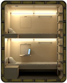 From The Cool Hunter - Sleep Box - Mini Hotels could inspire a modern kids' room