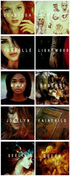 Mortal instruments female characters | women | Clary Fairchild | Isabelle Lightwood | Maia Roberts | Jocelyn Fairchild | Seelie Queen