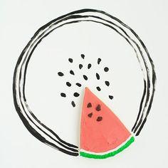 Melon slice / Tranche de melon