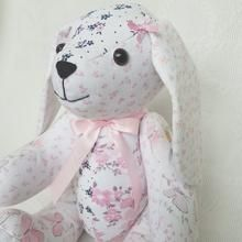 Memory Keepsake bunny made from a childs babygrows Miss Bunny, Lily Grace, Bag Display, Personalized Baby Gifts, Meaningful Gifts, Button Crafts, Baby Grows, Sewing Projects, Sewing Ideas