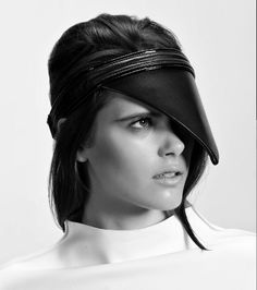 GIGI BURRIS | Peak Leather Visor