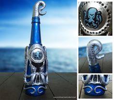 Reddit user zeromichael Made this Bioshock Infinite Undertow Vigor using a beer bottle