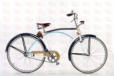 Vintage Greek ladies bike: Eska Bicycle 1930 by ReCycleProject. I love the turquoise and cobalt with the matte gold and white.