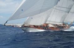 Another favorite yacht: the Windrose in a rather spectacular photo. I'm always partial to schooners.