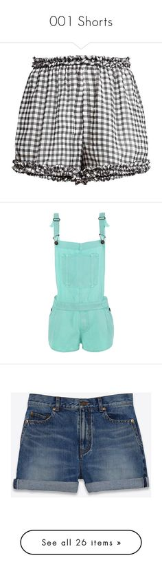 """001 Shorts"" by rosethistle ❤ liked on Polyvore featuring shorts, ysl, star shorts, yves saint laurent, baggy shorts, star print shorts, bottoms, short, pants and short shorts"