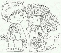 Omalovanka svatba