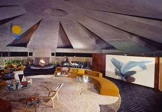 The Elrod House is famed for hosting the fight scene in the James Bond film, 'Diamonds Are Forever'. Over the years, it's also hosted some Playboy shoots too. The 9000 square foot home designed by John Lautner for interior designer, Arthur Elrod back in 1968, has become quite a pop culture fixture.