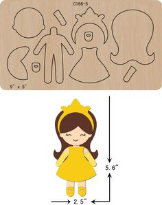 New Princess Wooden Die Cutting Dies Scrapbooking feltThe thickness is and is compatible with most leading DIY felt crafts projects ideas you need to know. Easy Felt Crafts, Felt Diy, Fabric Dolls, Paper Dolls, Felt Templates, Applique Templates, Applique Patterns, Card Templates, Felt Doll Patterns