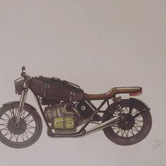 Flat twin caferacer biplace. #caferacer #caferacers #flattwin #motorcycles #road #custom #motorcycles #moto #sketch #sketchbooks #sketchbook Custom Motorcycles, Sketchbooks, Twins, Photo And Video, Flat, Instagram, Bass, Sketch Books, Gemini