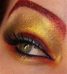 View images and photos in CNET's Eye makeup for geeks (pictures) - Finnish makeup artist Karita Brun gets geeky inspiration for many of her eye makeup designs. This Iron Man creation takes it look from the superhero's shiny red and gold suit, but it also contains a good dose of Tony Stark's attitude.