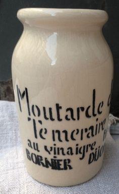 FleaingFrance Brocante  Vintage Mustard Jar