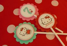 "Photo 2 of 32: Hello Kitty Red, Pink & Aqua / Birthday ""Hello Kitty 7th Birthday"" 