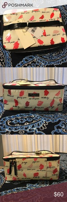Kate Spade Large Colin makeup case Amazing piece to add to your collection kate spade Bags Cosmetic Bags & Cases