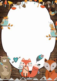 Cool 10 + FREE Printable Woodland Invitation Templates - My Pano - Wild One Birthday Invitations, Free Printable Birthday Invitations, Birthday Invitations Kids, Baby Shower Invitations, Card Birthday, Disney Invitations, Birthday Ideas, Free Printable Stationery, Free Invitation Templates