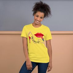 "This t-shirt is ""practically perfect"" and it's everything a MARY POPPINS fan dreams of. It feels soft and lightweight, with the right amount of stretch. It's comfortable and flattering for both PERFECT men and women. Prism Color, Boyfriend Shirt, Ash Color, Love T Shirt, Tee Shirt, Fabric Weights, Unisex, T Shirts For Women, Spun Cotton"