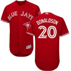 Blue Jays  20 Josh Donaldson Red Flexbase Authentic Collection Canada Day  Stitched MLB Jersey Mlb befc531eb