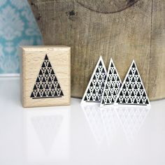 Symbols – Christmas Tree Rubber Stamp – a unique product by winklerin on DaWanda