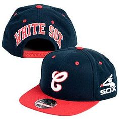 f87f0c8fe4b40 Look sharp this baseball season with this Chicago White Sox Blockhead  Snapback Adjustable Cap from American Needle! This hat is all navy blue  with a red ...