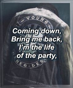 their jackets need to become official merch or i'm going to scream Cool Lyrics, Music Lyrics, All Time Low Lyrics, Last Young Renegade, Gives Me Hope, Low Life, Pop Punk, Me Me Me Song, Lyric Quotes