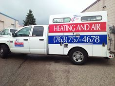Eye-catching graphics turn this utility truck into a moving billboard, thanks to KORT SIgn Design!