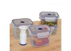 11 pcs Vacuum Food Storage Containers Bowl Contains 5 Stackable