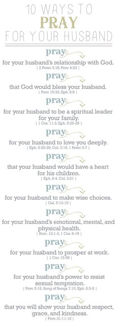 10 Ways to pray for