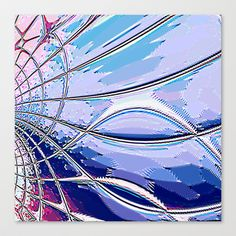 Re-Created Web of Lies4 #Stretched #Canvas by #Robert #S. #Lee - $85.00