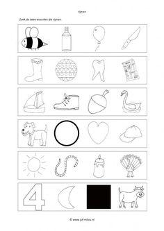 Dit werkblad en nog veel meer in de categorie taal - rijmwerkbladen kun je downloaden op de website van Juf Milou. Spelling, Alphabet, Letters, Words, School, Sandro, A4, Dutch, Corona