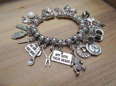 Ultimate Alice in Wonderland Charm Bracelet by cinsationalbaubles, $63.99