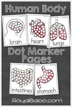 Free Human Body Dot Marker Pages