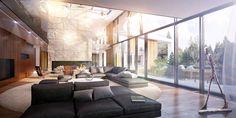 Vzdušný interier vily Divider, Room, Furniture, Home Decor, Bedroom, Decoration Home, Room Decor, Rooms, Home Furnishings