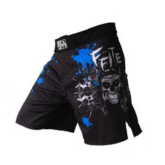 Pria celana pencetakan tinju mma shorts melawan bergulat polyester kick gel tinju muay thai celana pendek thai tinju celana pendek mma